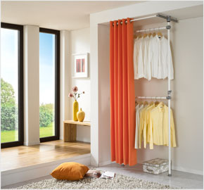 Two-level curtain clothes rack, ginger orange (LS-3453)