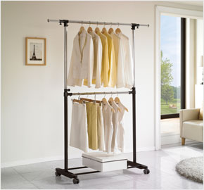 Portable double-level clothes rack (LS-3548, LS-3545)