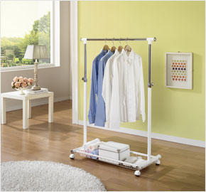Portable double-level clothes rack (LS-0797, LS-0865)
