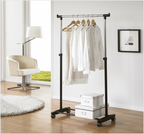Portable double-level clothes rack (LS-2937)